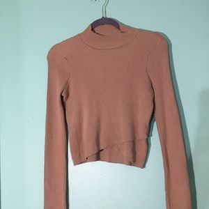 Kendall and Kylie Beige crop top sweater | SIZE S
